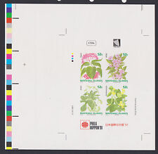 MARSHALL ISLAND STAMPS SC# 398a  IMPERF SOUVENIR SHEET NATIVE FLOWERS MNH