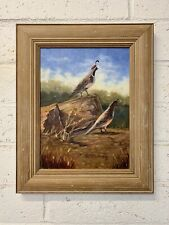 Original Oil Painting on Canvas Quail Signed by the Artist Pat Mullarkey 13 x 16