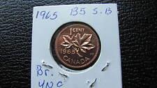 1965 Canadian  penny uncirculated, (b5,sb)