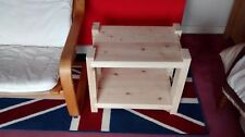 Handmade Rustic Chunky Pine Side/Turn Table unit, Handcrafted Reclaimed Timber