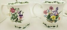 """Queens Society Collection 2 Fine Bone China Mugs """"The Garden Lilian Snelling"""""""