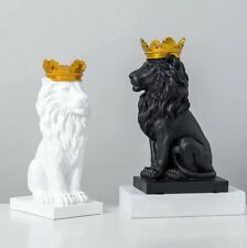 Lion Statue Nordic Style Resin Figurine Sculpture Decoration Statues Home Office