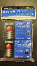 Scotch Vhs-C Camcorder Tc-30 Blank Tapes 2 Pack New