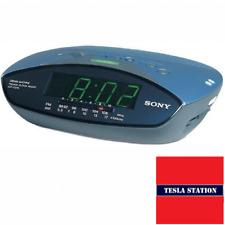 Reloj Despertador máquina de ensueño de Sony ICF-C215 FM/AM Radio. Aqua Azul/Verde