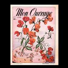 Dollshouse Miniature Newspaper - 1954 Mon Ouvrage French Lifestyle Magazine