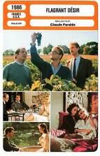 FICHE CINEMA : FLAGRANT DESIR - Waterston,Berenson,Donnadieu 1986 Trade Secrets