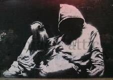 BANKSY   HOODIE WITHOUT A KNIFE  A4  PRINTED POSTER