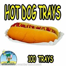 100 Hot Dog Tray Holders Paper Fluted Brand NEW CONCESSION SUPPLY #1