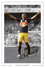 Thierry Henry New York Red Bulls impresión Foto Firmada Usa Soccer