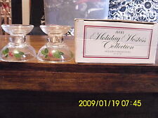 Avon holiday/ christmas candlesticks Holiday Hostess Collection 1981