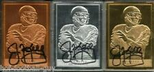 RARE JIM KELLY SIGNED GOLD~SILVER~BRONZE LIMITED EDITION CARDS~HOF AUTO~97/100