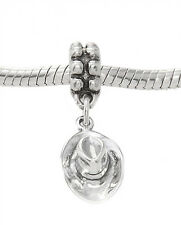 STERLING SILVER DANGLING THREE DIMENSIONAL COWBOY HAT BEAD