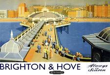 Brighton & Hove Always in Season British Railways Train Rail Travel Poster Print