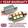 2X GREEN CANBUS NUMBER PLATE INTERIOR SMD LED BULBS 30 36 39 42 44MM FESTOON OC