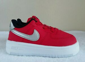 """wow NIKE AIR FORCE 1 '18 """"OHIO STATE"""" BABY Sz 5c  RED SILVER WHITE BLACK 2021"""