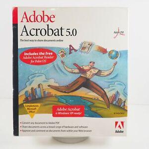 Adobe Acrobat 5.0 Single User License Retail Box. New Old Stock