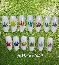 Marijuana Pot Nail Art Waterslide Decals!! Weed nail art Pot nail decals