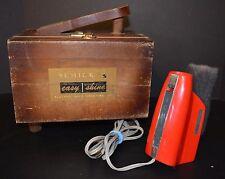 Vtg Schick Easy Shine Electric Grooming Kit Shoeshine Box