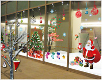 Large Christmas Tree or Santa Removable Window/Wall Stickers Home Shop Decor