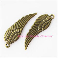 10Pcs Antiqued Bronze Tone Birds' Wings Charms Pendants 9x30mm