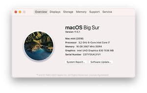 Apple Mac mini, Intel i7 Sechskern, 16 GB RAM