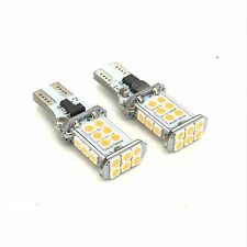 pair amber yellow indicator bulbs 16 CREE LED W16W T15 955 921 Canbus Error Free