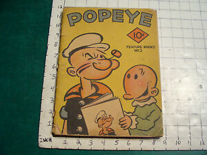 Vintage Book: SCARCE--1935 POPEYE Feature book #2