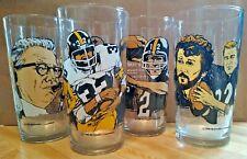 McDonald's Set Pittsburgh Steelers Hall of Fame Glass Bradshaw, Greene, Lambert
