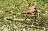 Antique Goat Cart With Steel Wire Wheels Goat Farm Buggy  Cart Garden Cart