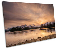 Derwent Water Lake District Picture SINGLE CANVAS WALL ART Print
