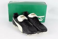 Vintage 80s New Puma Mens 7.5 King Leather Soccer Shoes Cleats Boots Black