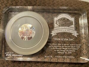 "Toronto Maple Leafs Slice Of The Ice ""Last game Maple Leaf Gardens"" 32/175 w CoA"