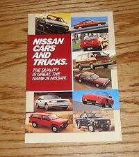 Original 1987 Nissan Car & Truck Full Line Sales Brochure 87 Pulsar NX 200 SX