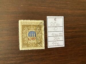 1946 SAN MARINO valore soprastampato 10/50 usato n.297