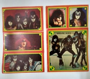 VINTAGE KISS STICKERS TRADING CARDS LOT ARGENTINA 1980's