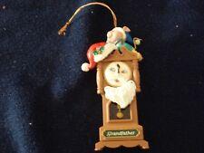 "Santa Grandfather Clock Christmas Ornament - 4 1/4"" tall"
