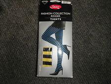 Silky Mode Collection Contraste COLLANT M JAUNE & Noir 91.4cm-107cm collant
