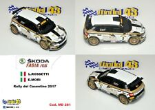 DECAL  1/43 -  SKODA FABIA R5  -  ROSSETTI  - Rally Casentino   2017
