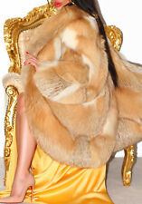 Luscious GOLDEN ISLAND Real Red Fox Fur Coat luxe Long Jacket XL SUPERBE!