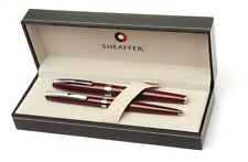 Sheaffer Sagaris Gloss Wine Fine Nib Fountain & Ball Point Pen Set New In Box