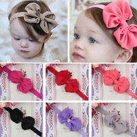 10Pcs Kids Girl Baby Chiffon Toddler Flower Bow Headband Hair Band Headwear New
