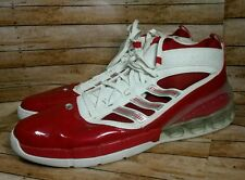 Adidas Mens 18 Red White Bounce High Top Basketball Sneakers