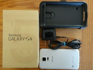 Samsung Galaxy S5 Unlocked White Smartphone Cell Phone 16 GB? Working!
