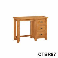 New Canterbury Oak 3 Drawer Dressing Table Computer Desk Ctbr97