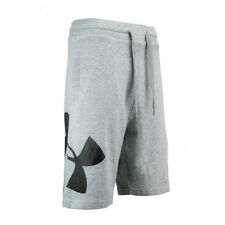 Under Armour Hombre UA rival Shorts con logotipo de Lana Gris XL