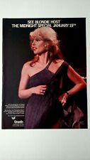 Blondie Host Midnight Special (1979) Rare Original Print Promo Poster Ad
