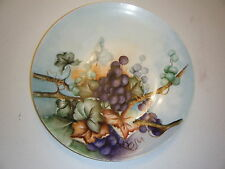 VINTAGE 12.5 INCH ROUND PLATE WITH GRAPES