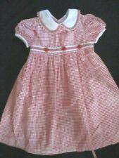 Vintage Bonnie Jean Red White Gingham  Dress Size 5 5T
