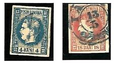 Romania: 1868; Scott 35 - 36, Used, good pieces XF, EBRU024