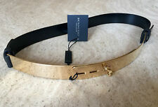Burberry Prorsum Kaylin Women's Black & Gold Belt Size 70 (S) BNWT Genuine